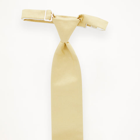 Buttercream Savvi Solid Long Tie