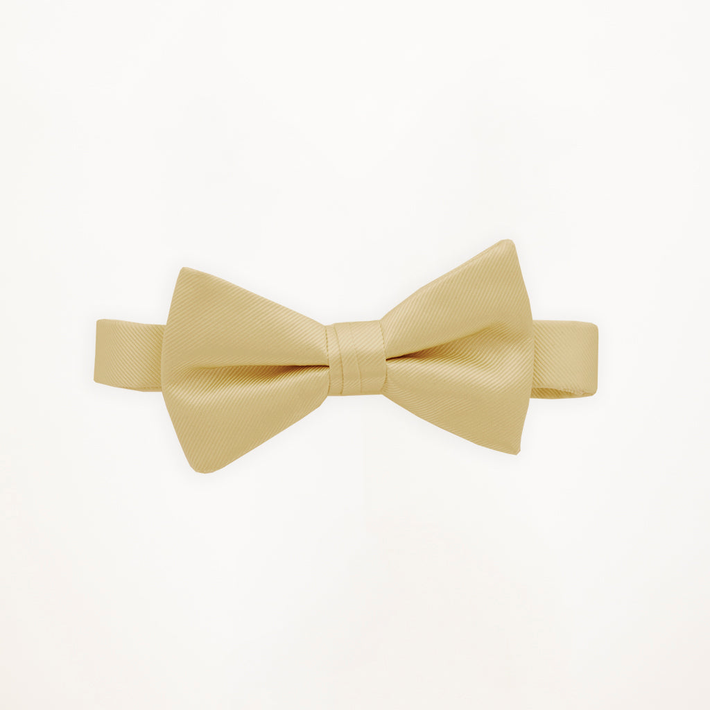 Buttercream Savvi Solid Bow Tie