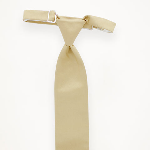 Champagne Savvi Solid Long Tie