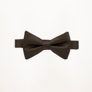 Charcoal Savvi Solid Bow Tie