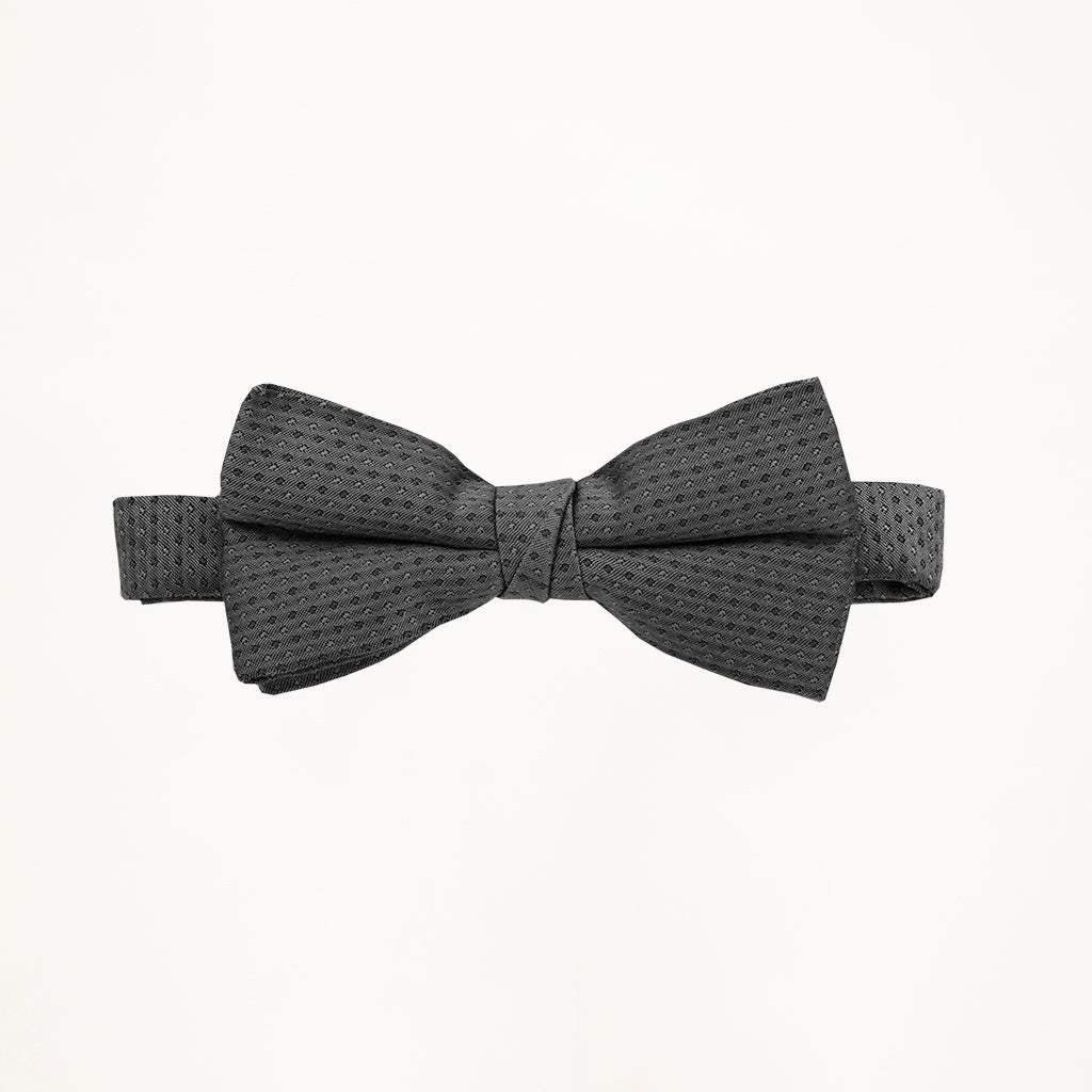 Charcoal Sterling Bow Tie