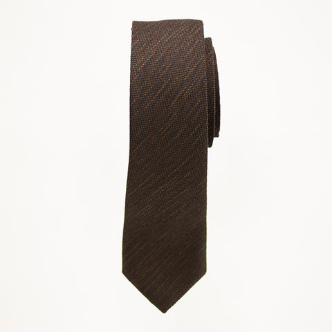 Chocolate Matte Long Tie