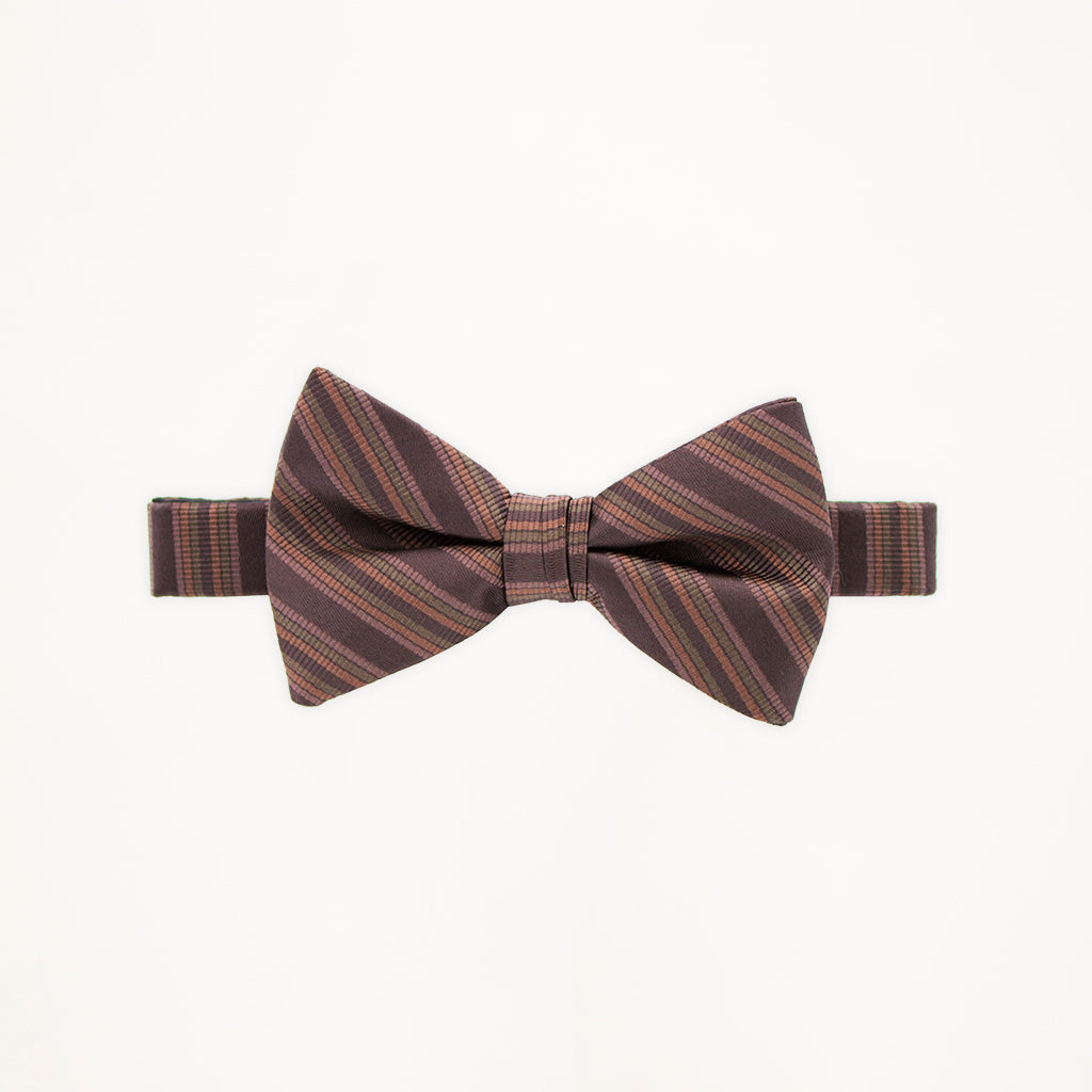 Chocolate Stripe Bow Tie