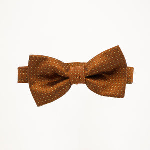 Cinnamon Sterling Bow Tie