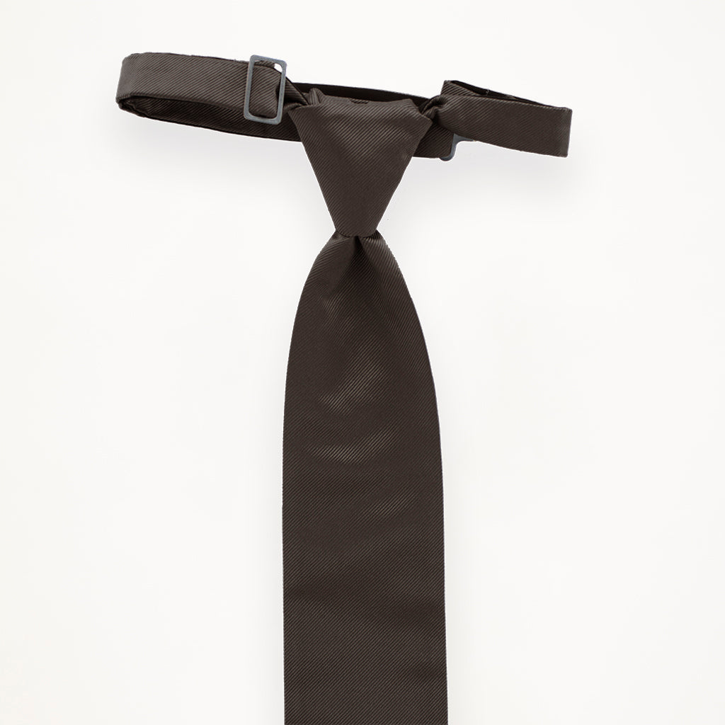 Dark Grey Savvi Solid Long Tie