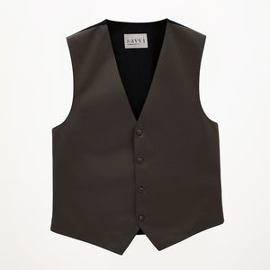 Dark Grey Savvi Solid Vest