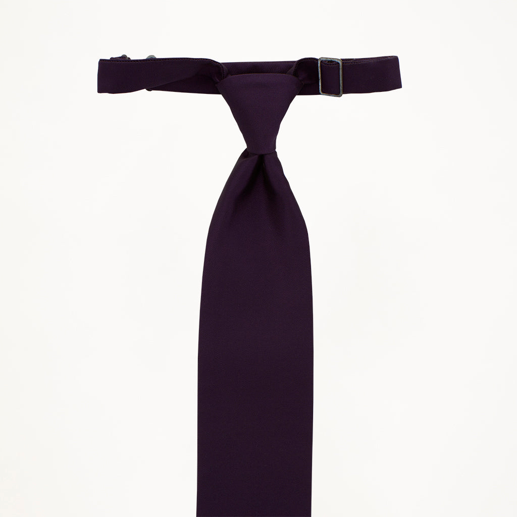 Eggplant Sterling Long Tie