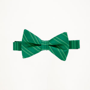 Emerald Stripe Bow Tie