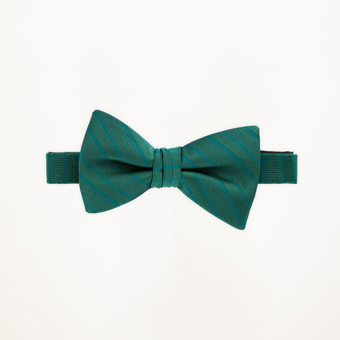 Evergreen Stripe Bow Tie