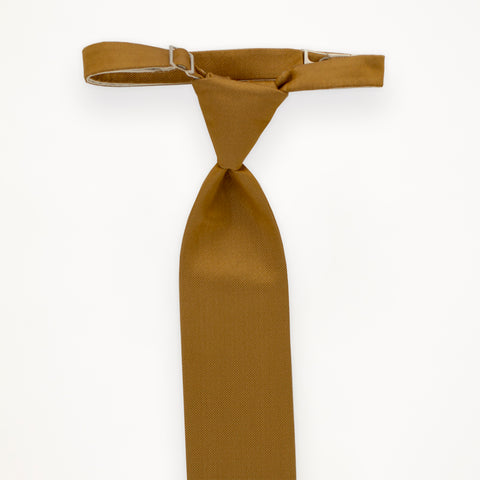Gold Savvi Solid Long Tie