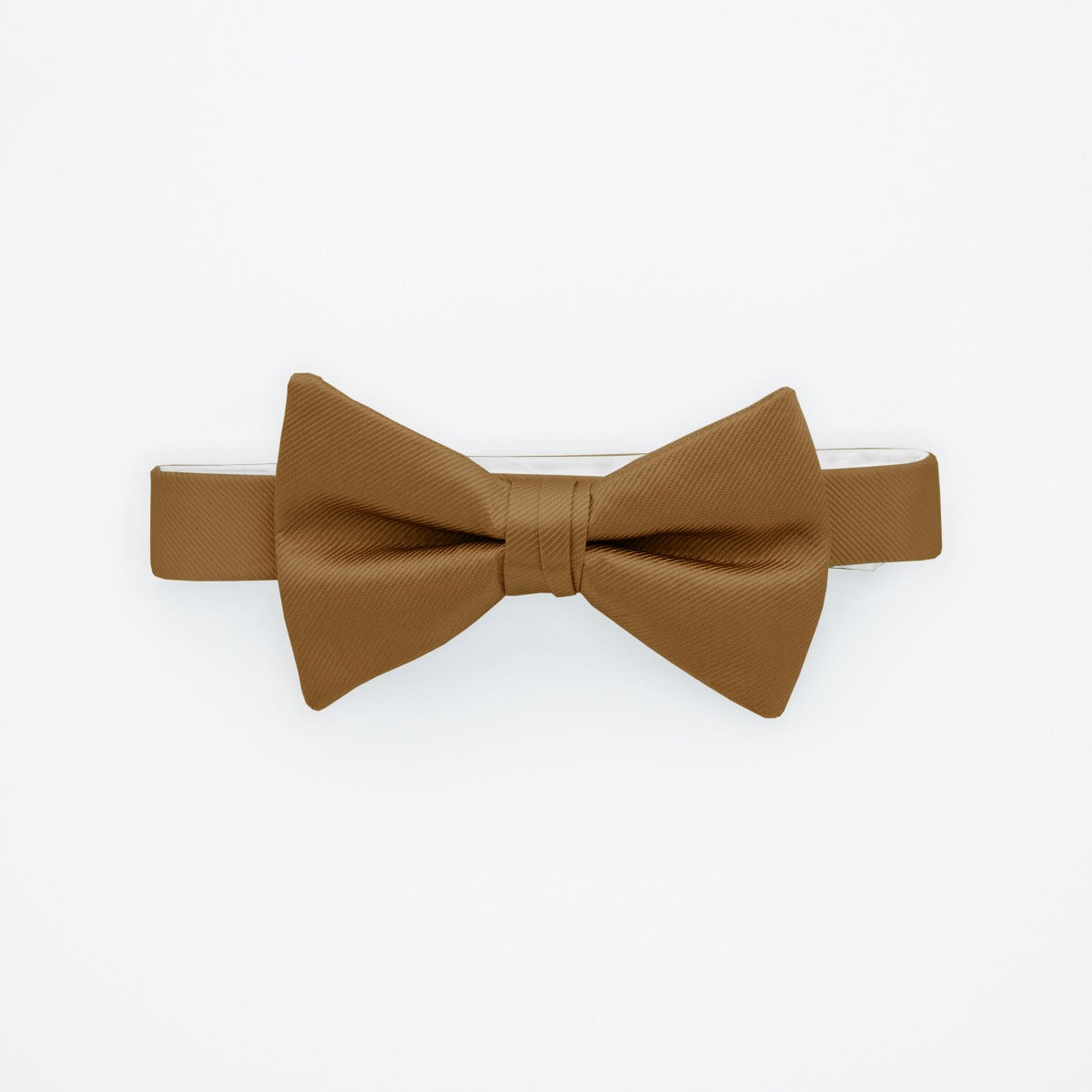 Golden Savvi Solid Bow Tie
