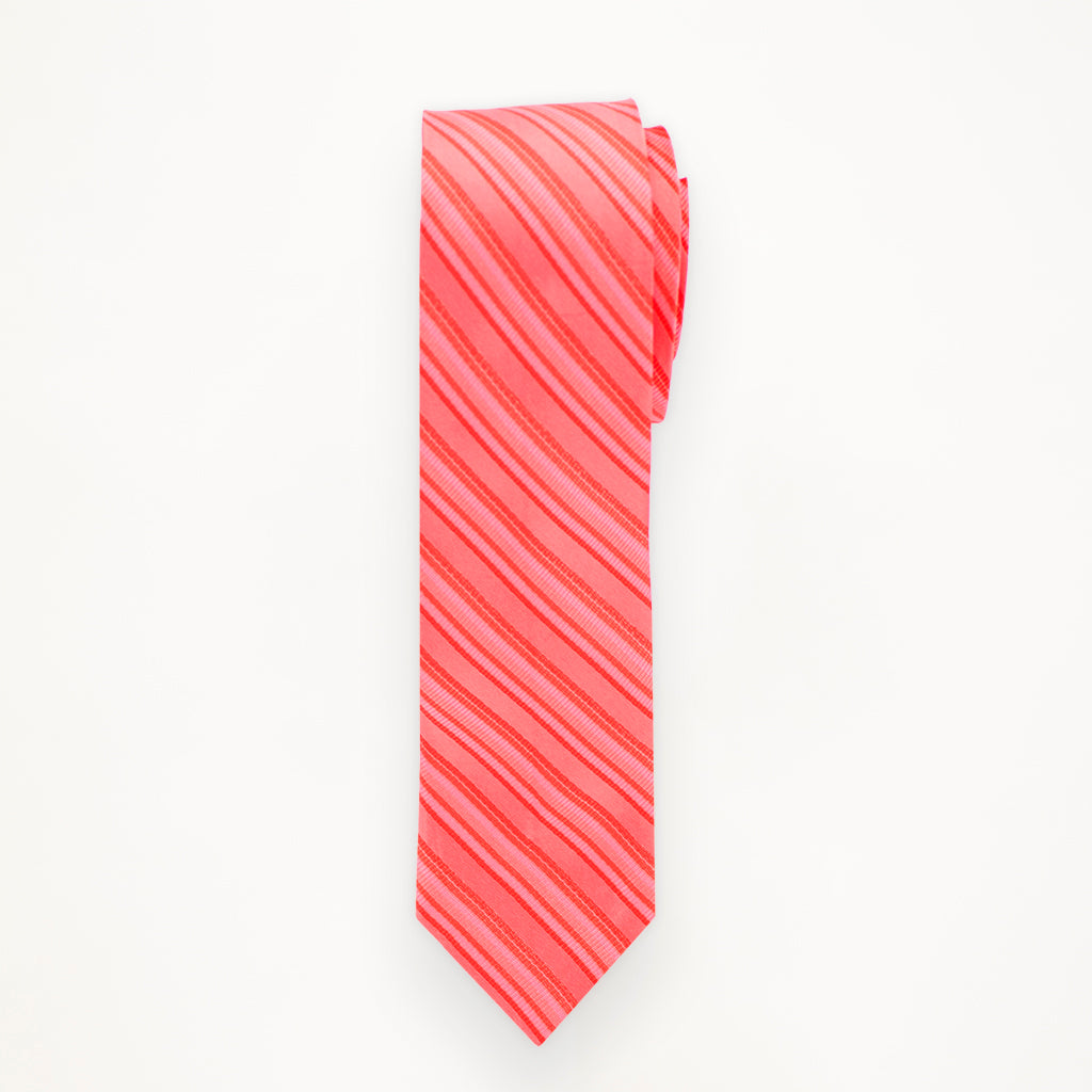 Guava Stripe Long Tie
