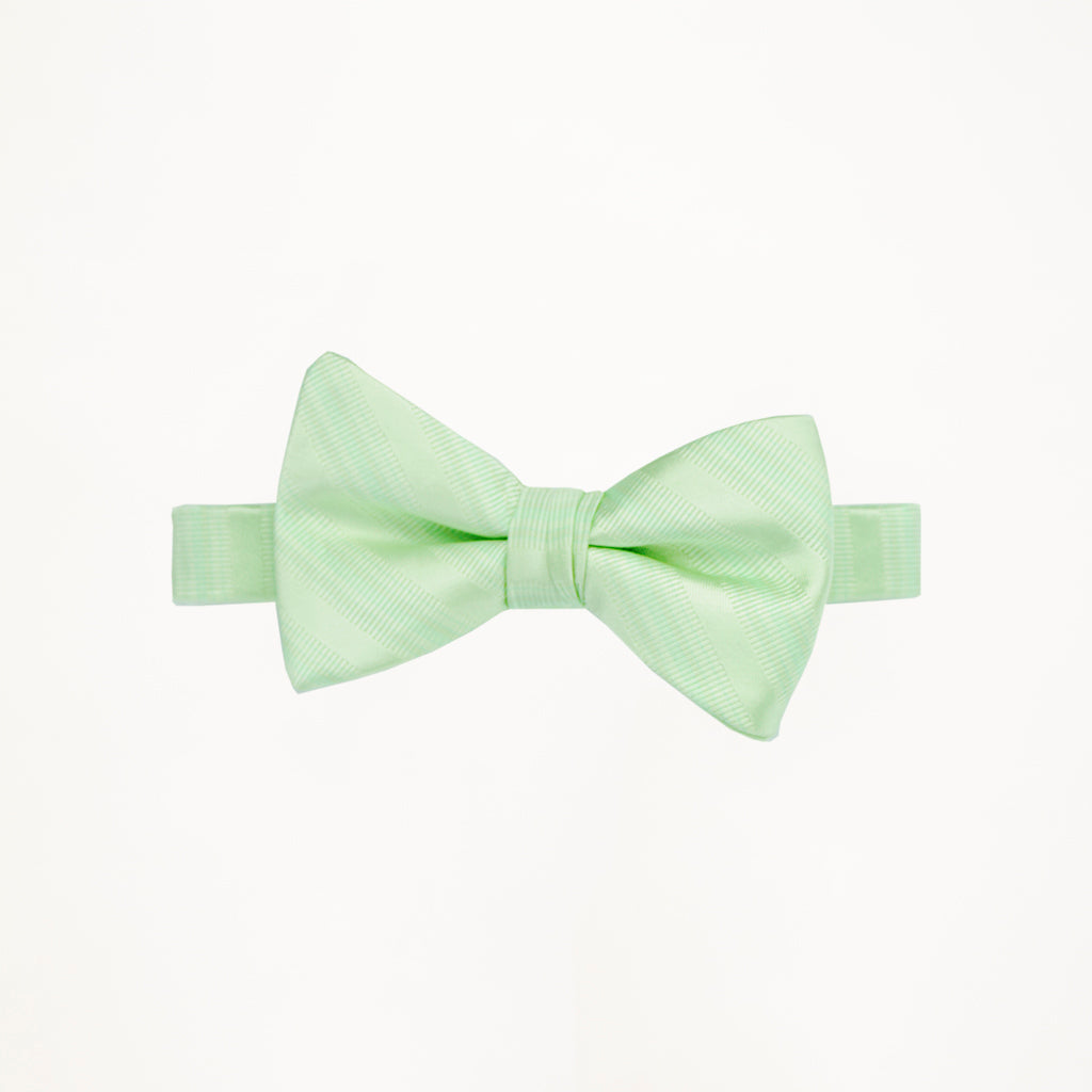 Honeydew Stripe Bow Tie