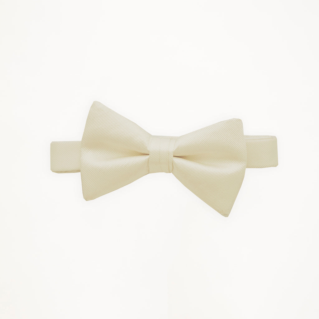 Ivory Savvi Solid Bow Tie