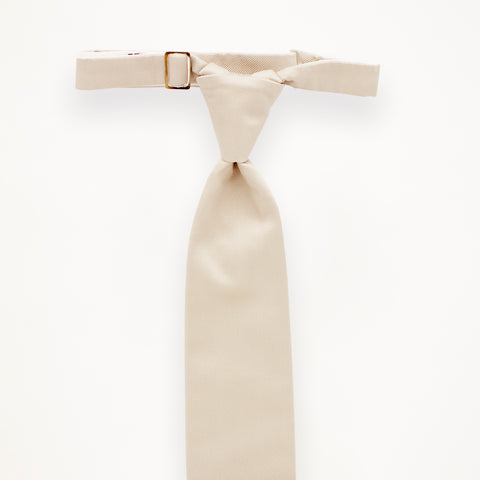 Ivory Savvi Solid Long Tie