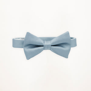 Light Blue Savvi Solid Bow Tie