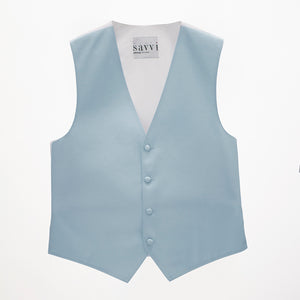 Light Blue Savvi Solid Vest