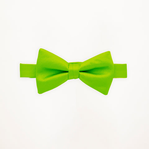 Lime Savvi Solid Bow Tie