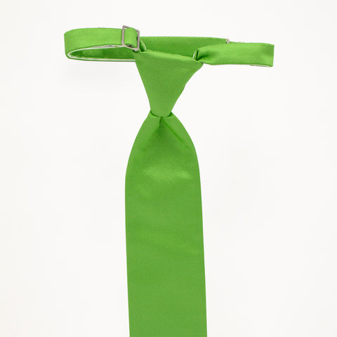 Lime Savvi Solid Long Tie