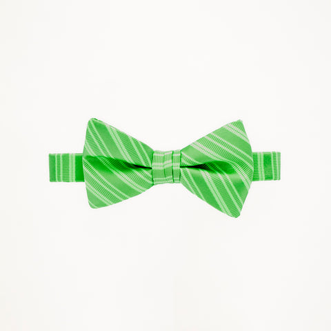 Lime Stripe Bow Tie
