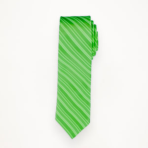 Lime Stripe Long Tie
