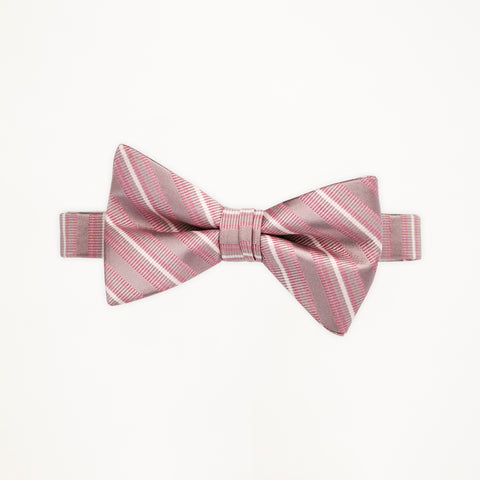 Loves First Blush Stripe Bow Tie