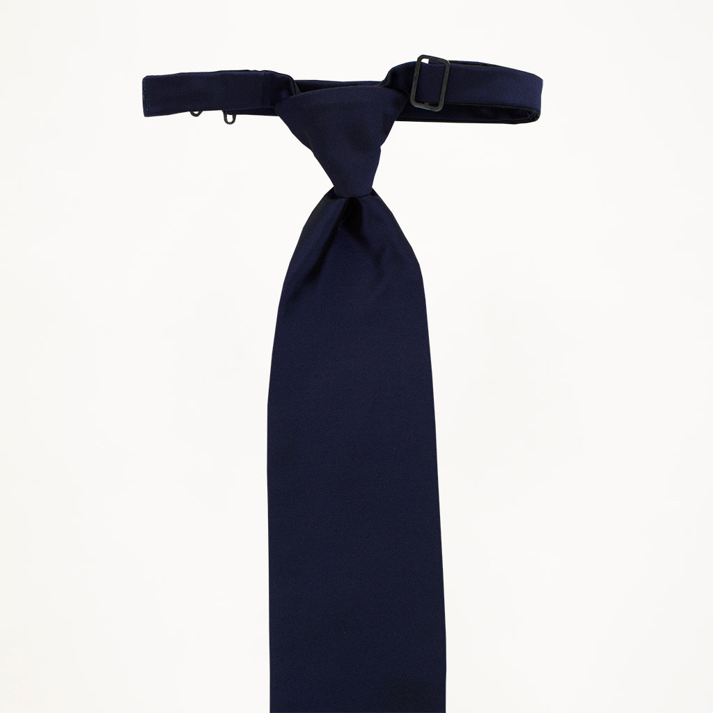 Midnight Blue Sterling Long Tie