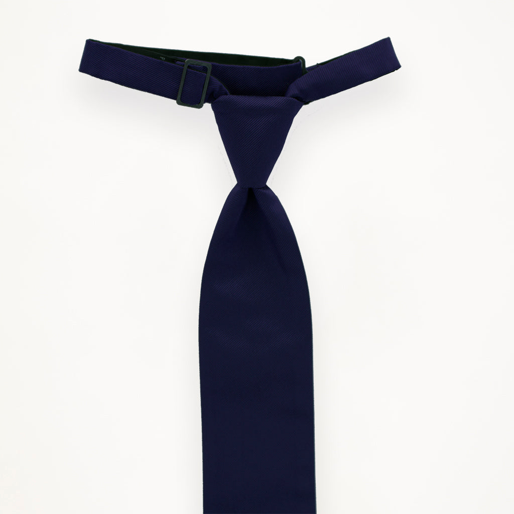 Navy Savvi Solid Long Tie