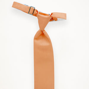 Peach Savvi Solid Long Tie