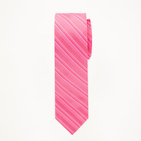 Petunia Stripe Long Tie