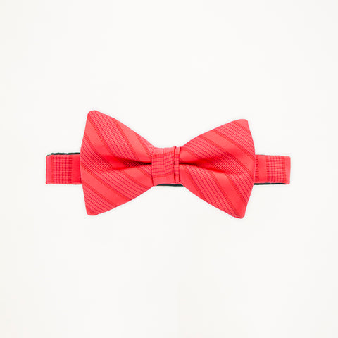 Poppy Stripe Bow Tie