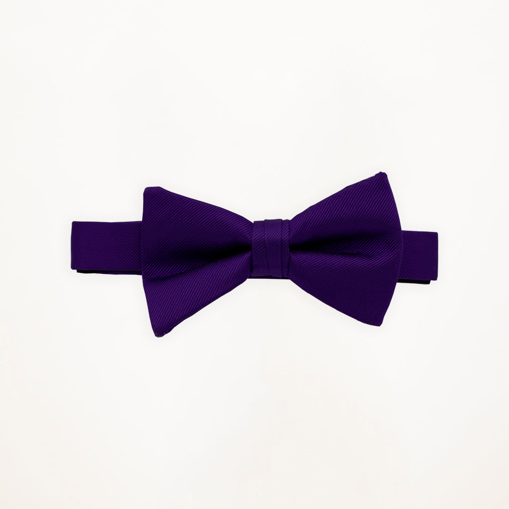 Purple Storm Savvi Solid Bow Tie