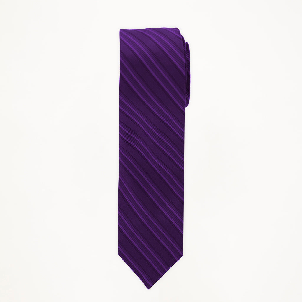 Purple Stripe Long Tie