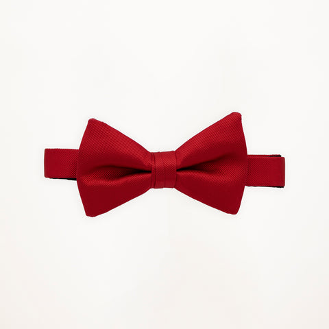Red Savvi Solid Bow Tie