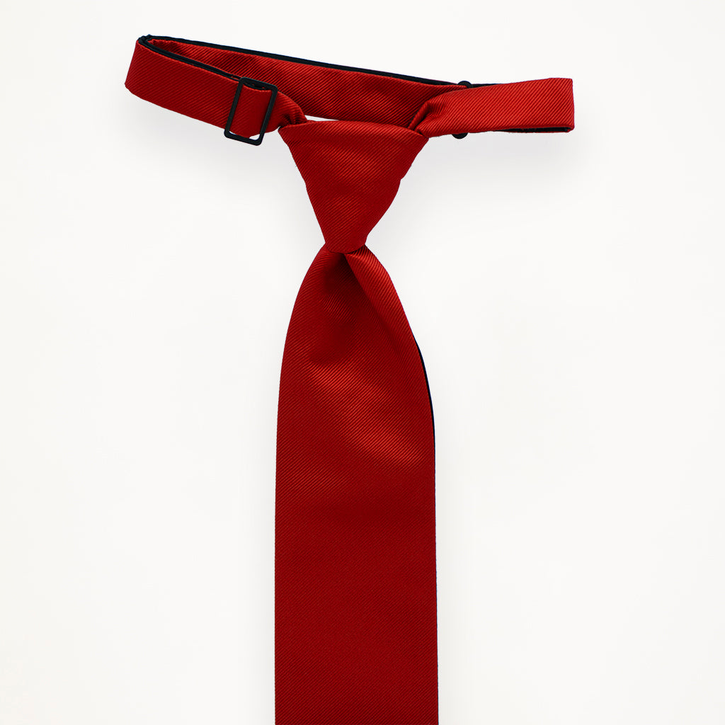 Red Savvi Solid Long Tie