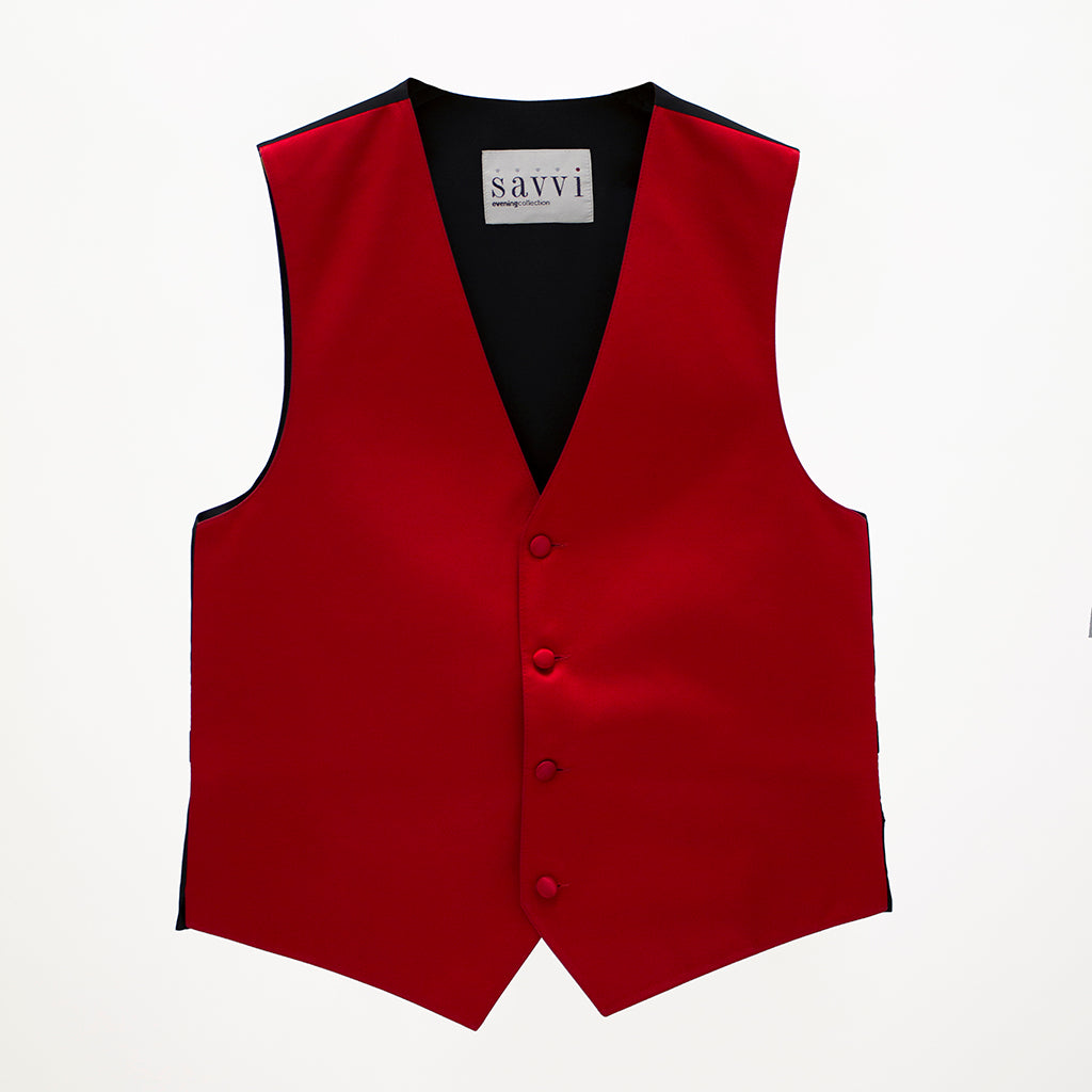 Red Savvi Solid Vest