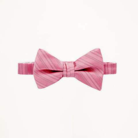 Rose Petal Stripe Bow Tie