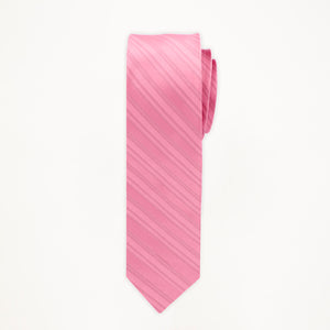 Rose Petal Stripe Long Tie