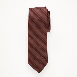 Rosewood Stripe Long Tie
