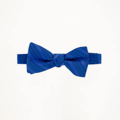 Royal Blue Stripe Bow Tie