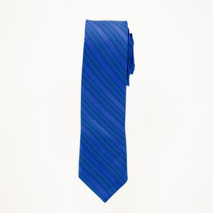 Royal Blue Stripe Long Tie