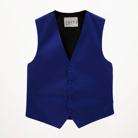 Royal Blue Savvi Solid Vest