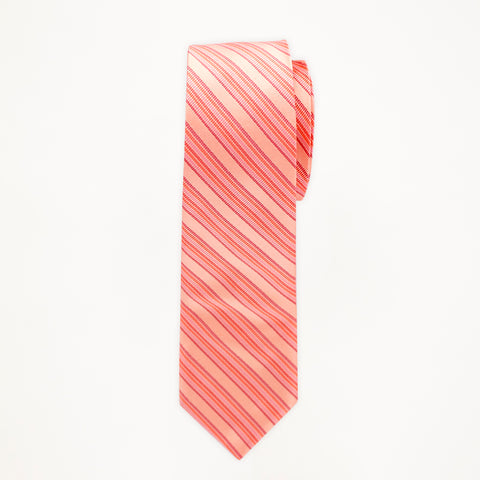 Salmon Stripe Long Tie