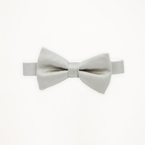 Silver Moonlight Savvi Solid Bow Tie