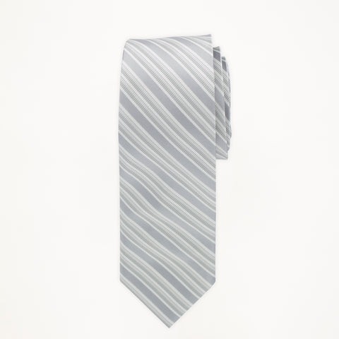 Silver Stripe Long Tie