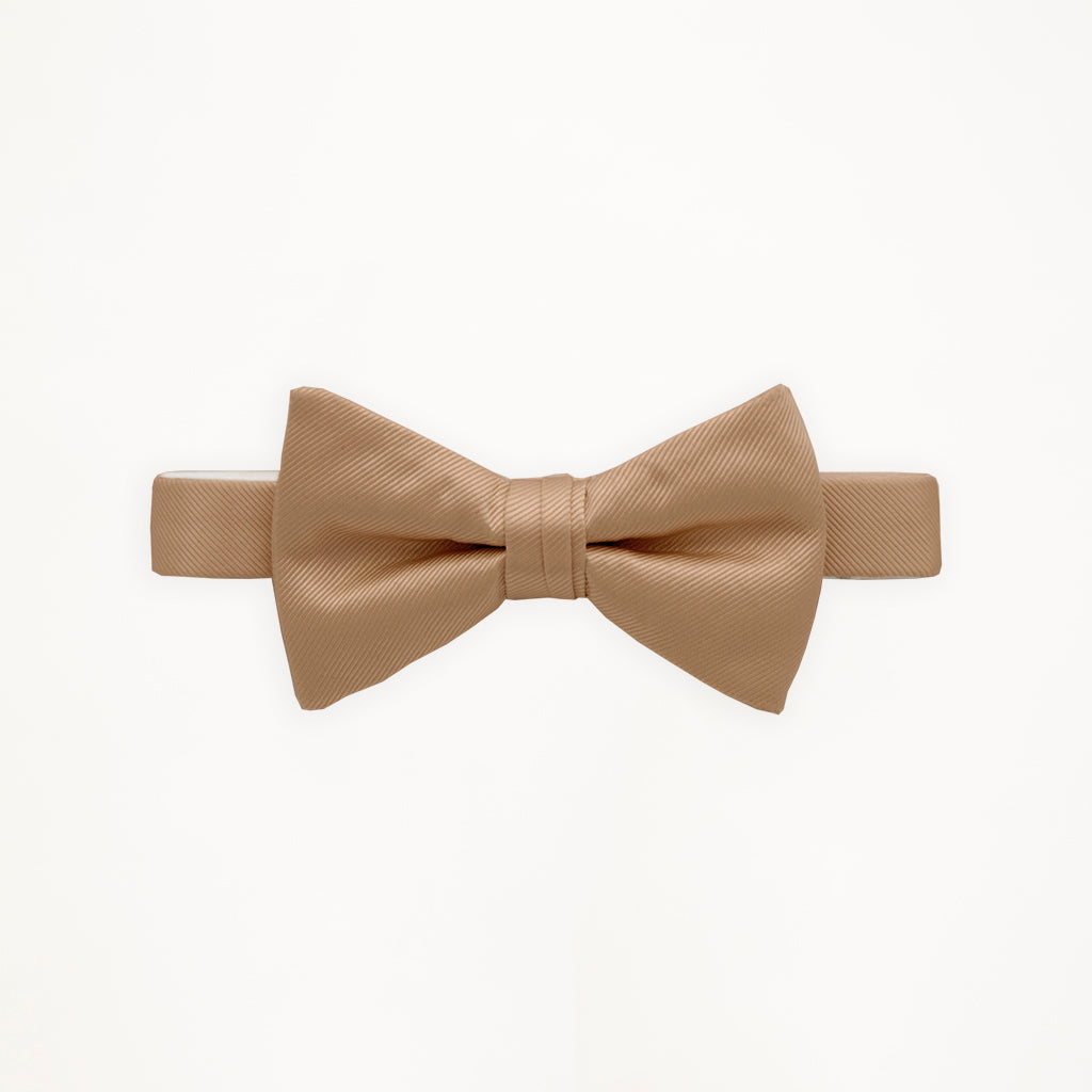 Taupe Savvi Solid Bow Tie