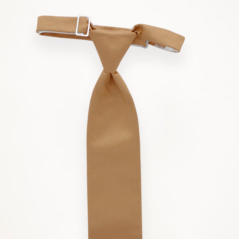 Taupe Savvi Solid Long Tie