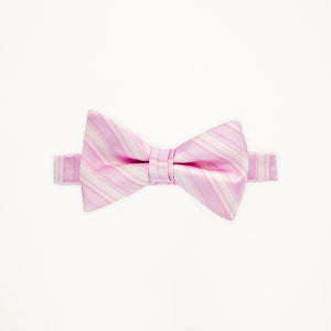 Tickled Pink Stripe Bow Tie