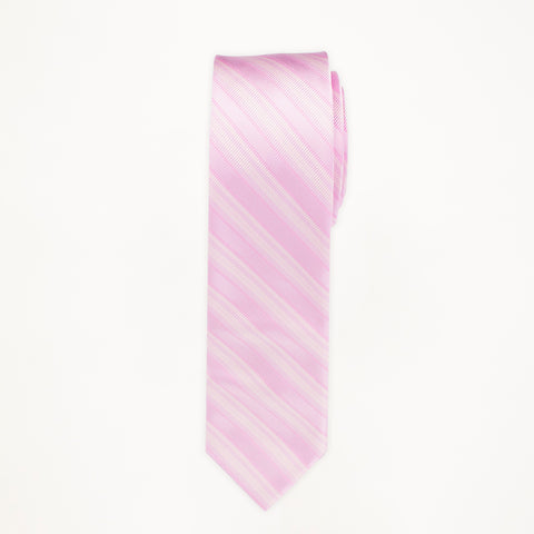 Tickled Pink Stripe Long Tie