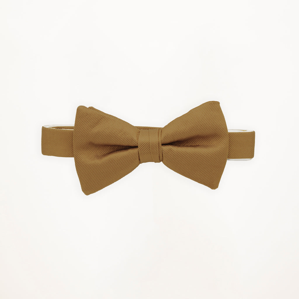 Toffee Savvi Solid Bow Tie